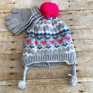 NWT Carter's grey hat and gloves set